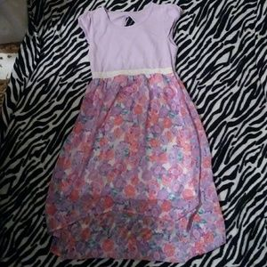 Other - GIRLS FLORAL HIGH LOW DRESS 10-12